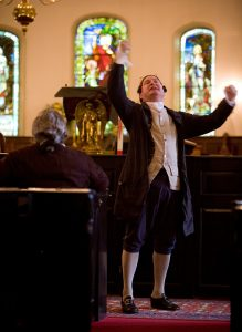 Actor portrayal of Patrick Henry in St. John's Episcopal Church
