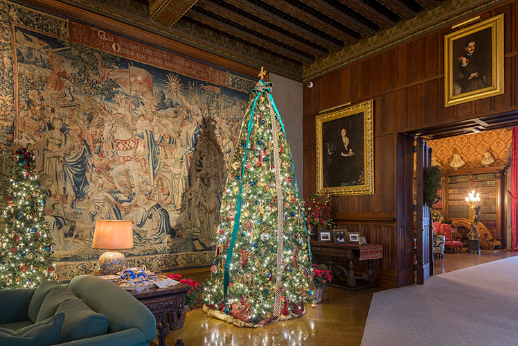 One of the many Christmas trees on display at Biltmore Estate