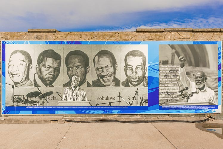 Mural of portraits displayed at Robben Island