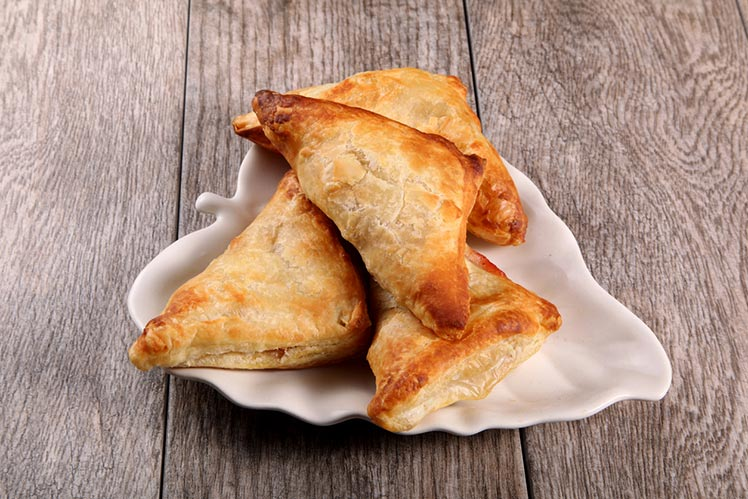 plate of three turnovers