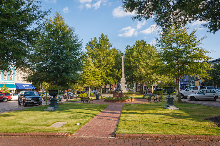 Abbeville, South Carolina, Town Square