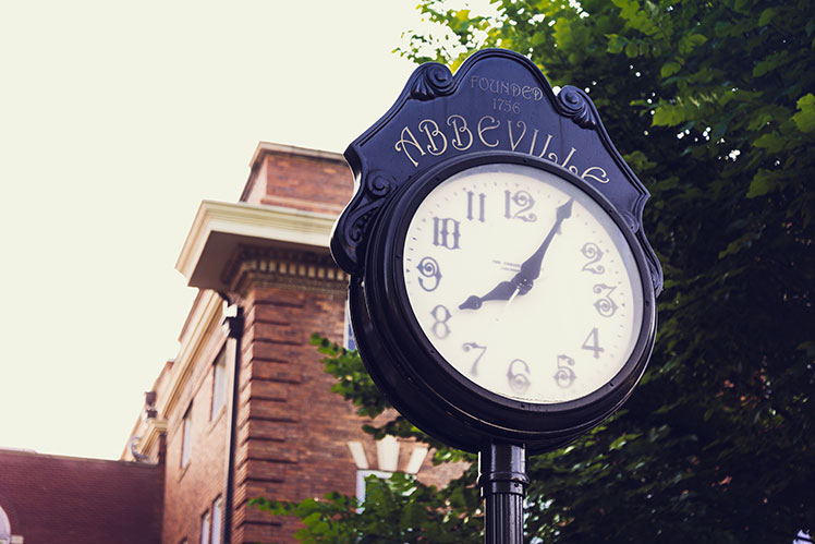 Abbeville, South Carolina, downtown clock