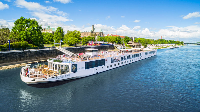 VIking River Cruise ship in Magdeburg