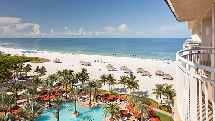 View from a balcony at JW Marriott Marco Island Beach Resort