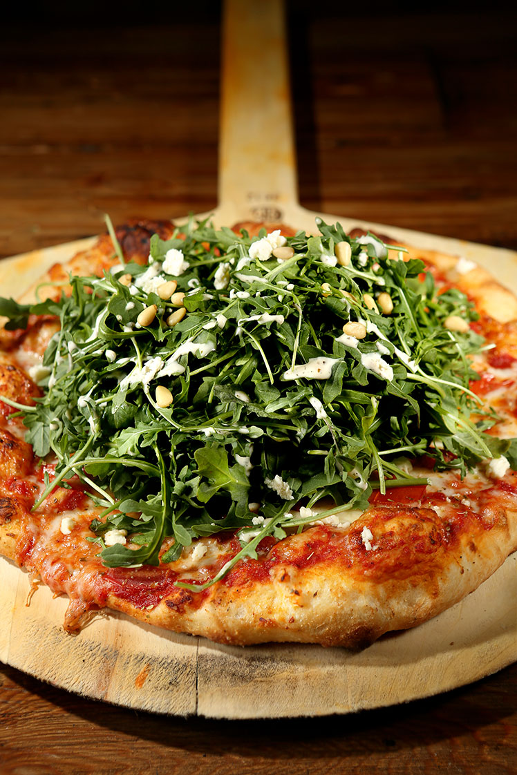 Salad Pizza entree from Kitchen Sync restaurant