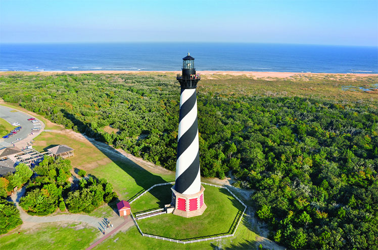 Aerial view of Cape Hatteras