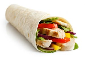 Chicken and vegetables wrap