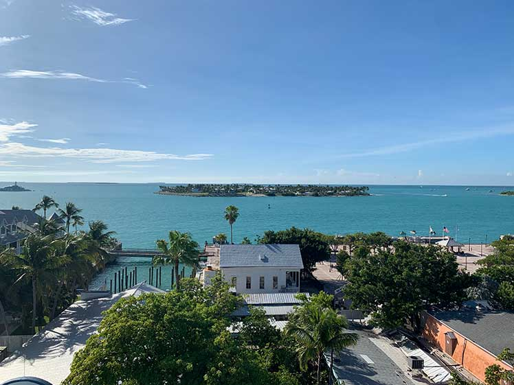 view from tower at Key West Shipwreck Treasure Museum