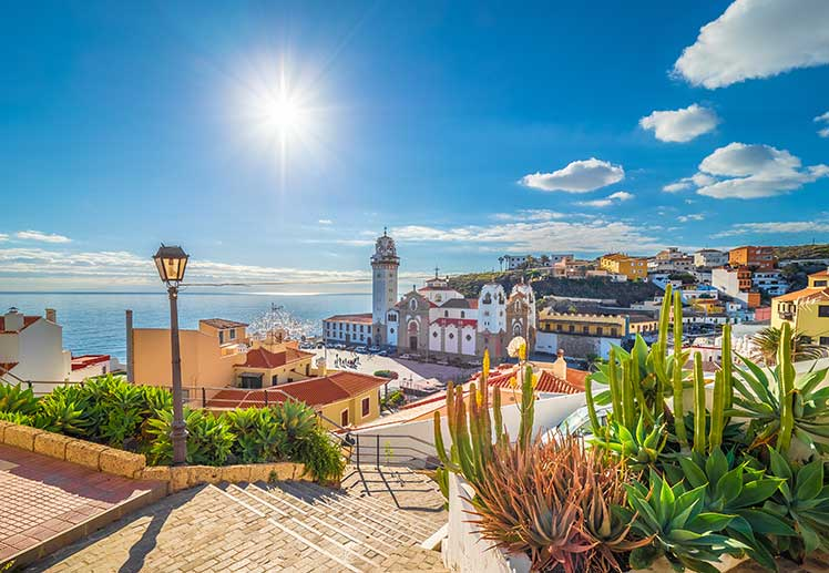 Town along the coast of Tenerife