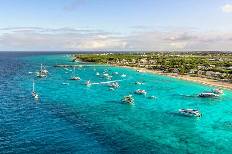 Aerial view of Grand Turks Island