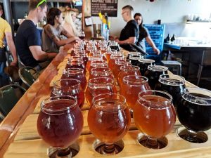 glasses of craft beer from Bright Light Brewing