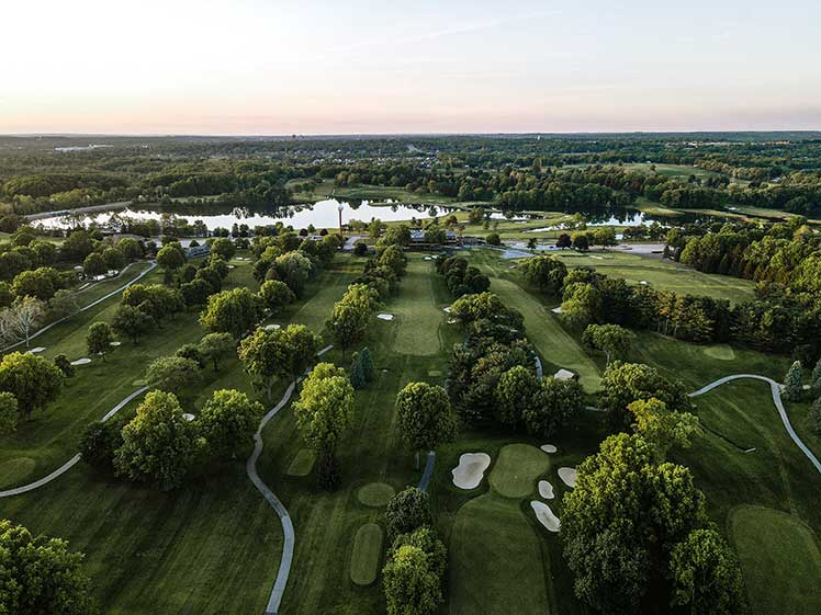 aerial view of Firestone Country Club golf course