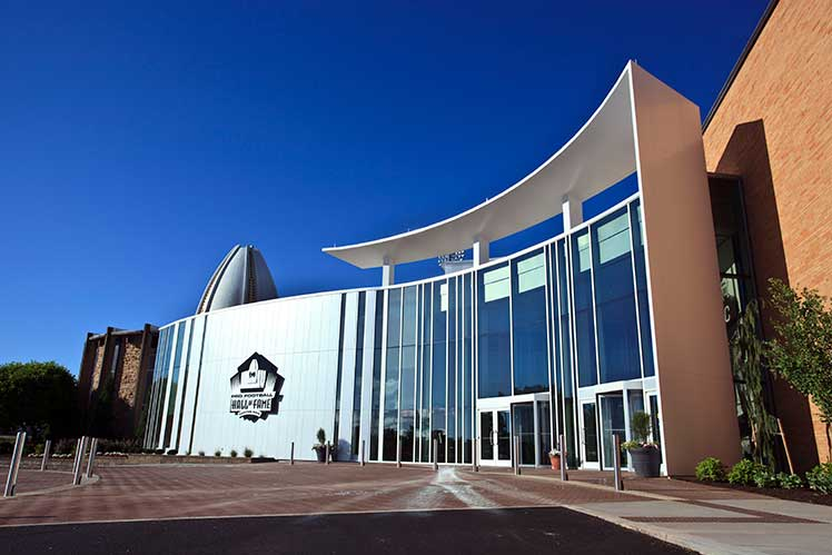 exterior of the Pro Football Hall of Fame