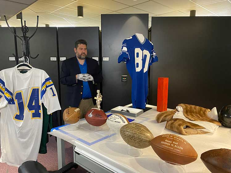 behind the scenes tour at the Prof Football Hall of Fame